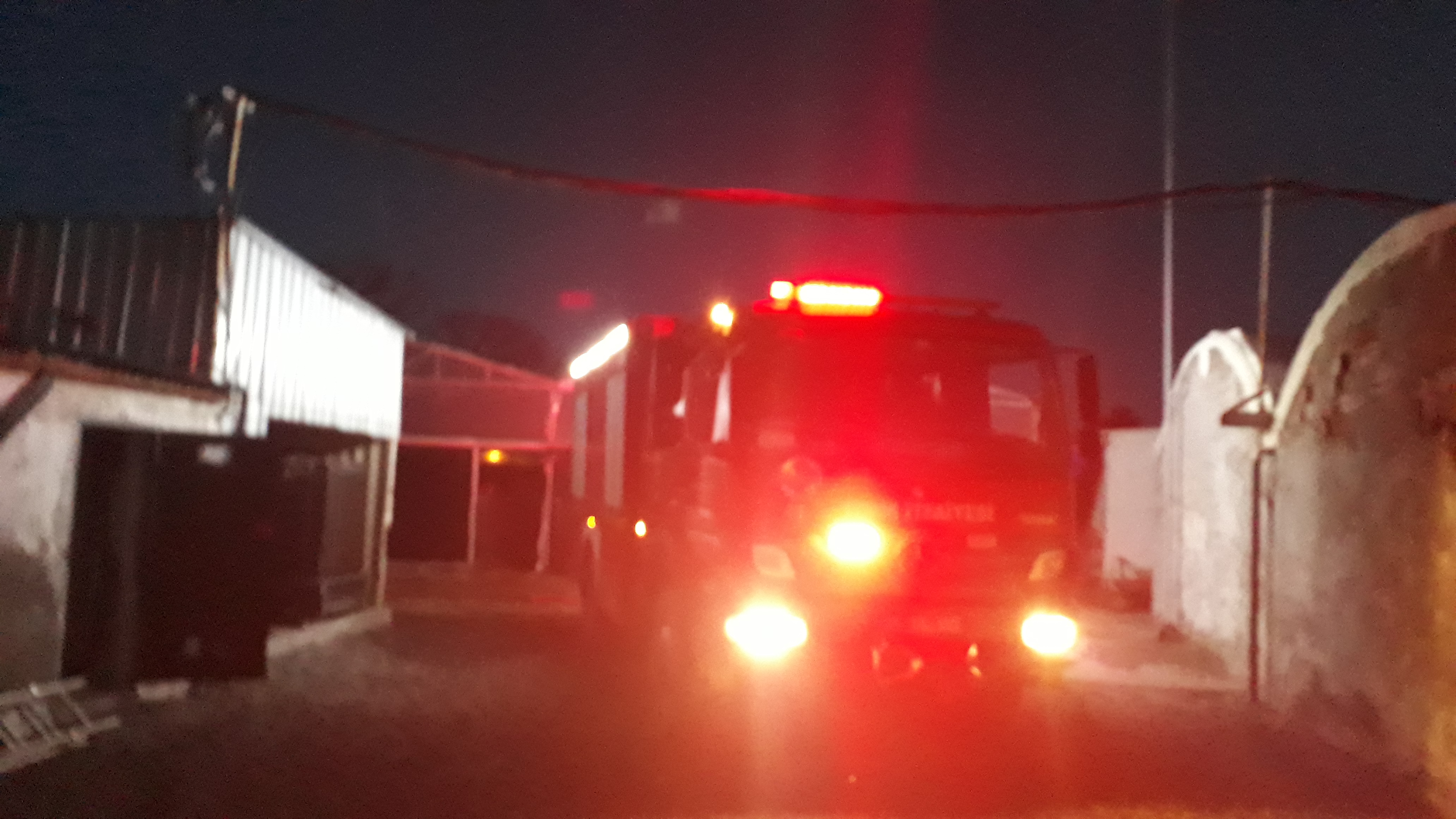Aliağa'da Balık Çiftliğinde yangın Çıktı