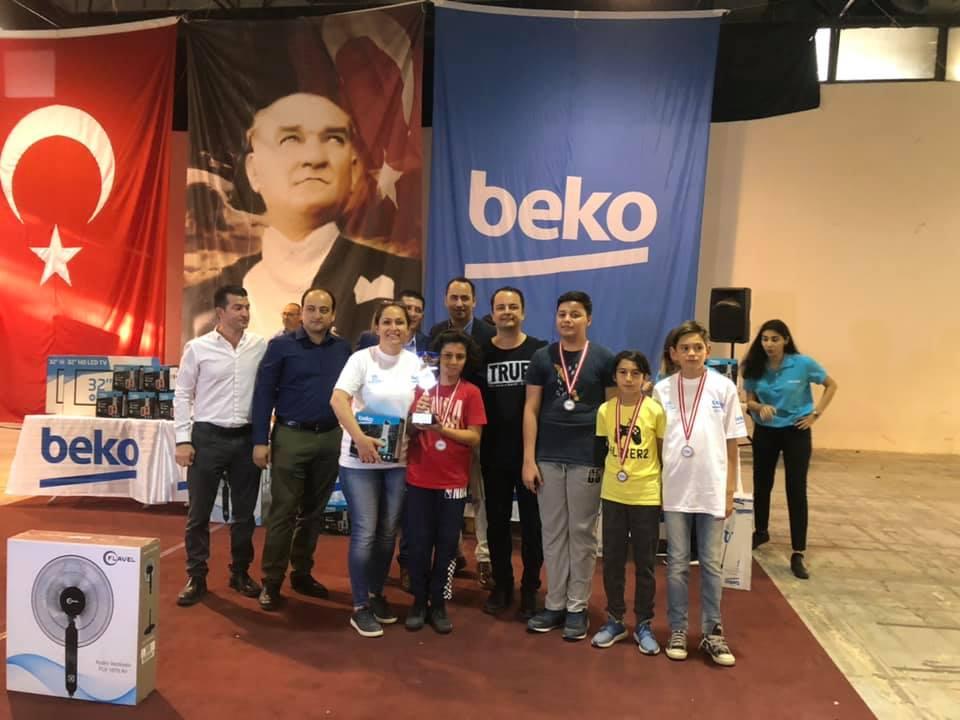 Beko 18. Satranç Şöleninde Aliağa Atatürk Ortaokulundan Büyük Başarı