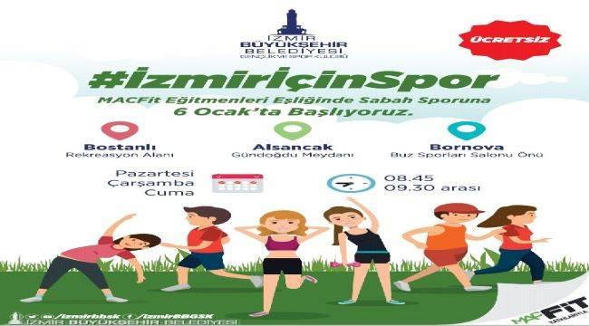 İzmir sporla buluşuyor
