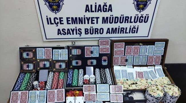 Aliağa'da kumar baskını:21 kişi yakalandı