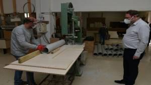 Mühendis başkanın icadı: PVC borusundan yüz siperliği