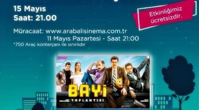 Açık havada sinema gösterimine büyük ilgi 12 Mayıs 2020 Salı