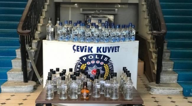 İzmir'de sahte içki operasyonu: 1 gözaltı