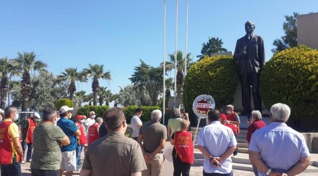 Aliağa'da Emekliler günlerini sorunlarla kutladı