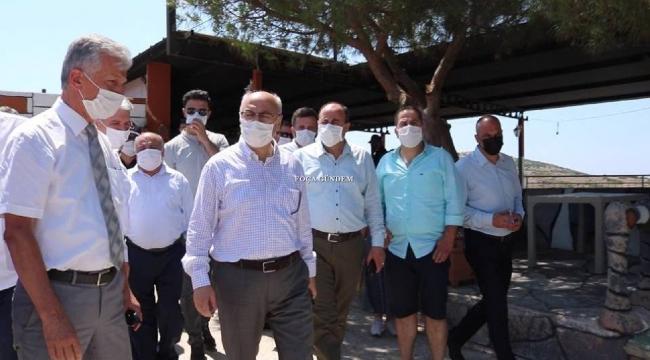 İzmir Valisi Köşger Foçada İncelemelerde Bulundu