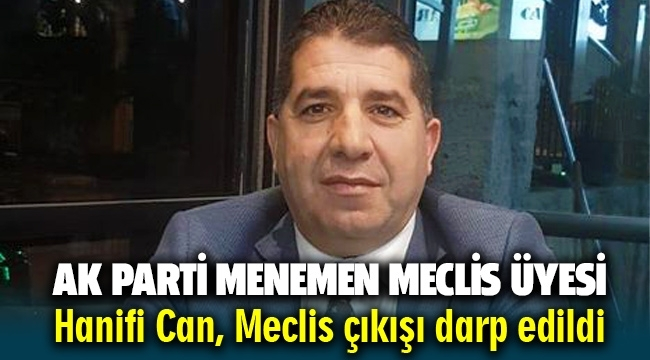 AK Parti Menemen Meclis Üyesi Hanifi Can Meclis çıkışı belediye çalışanları tarafından darp edildi