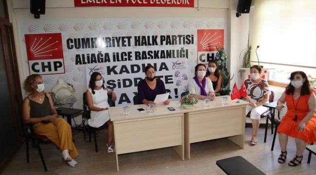 CHP Aliağa Kadın Kolları: İstanbul Sözleşmesi Kırmızı Çizgimizdir