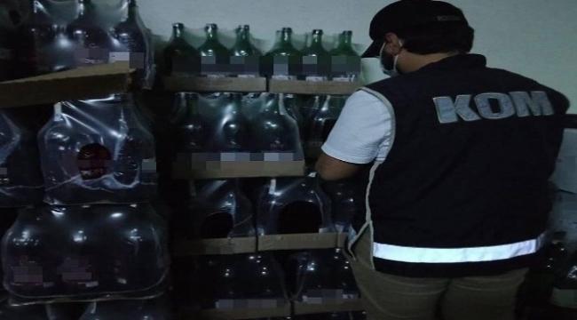 sahte içki operasyonu: 11 bin 583 şişe sahte içki ele geçirildi