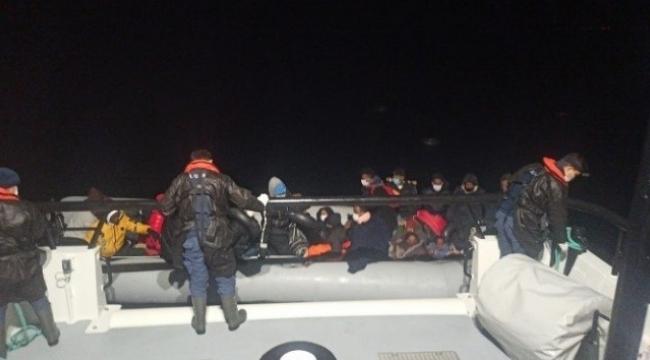 Dikili 'de 34 göçmen kurtarıldı