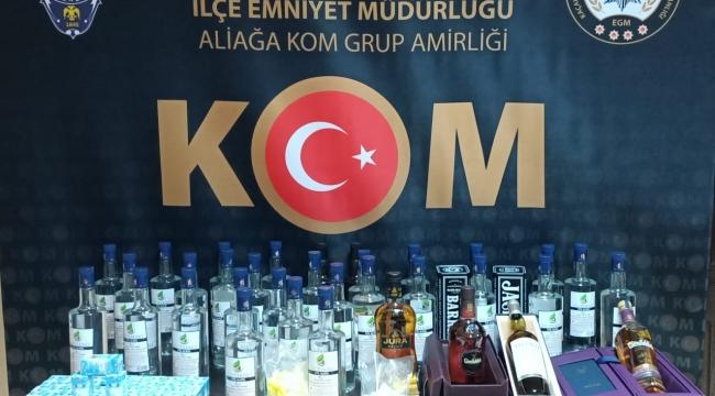 Menemen'de kaçak içki operasyonu