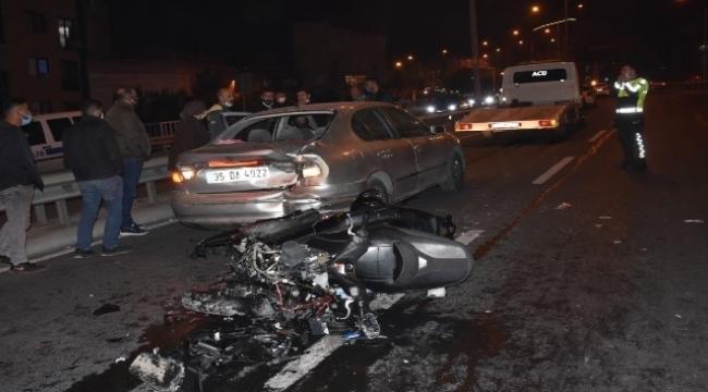 motosikletli sürücü kazada hayatını kaybetti