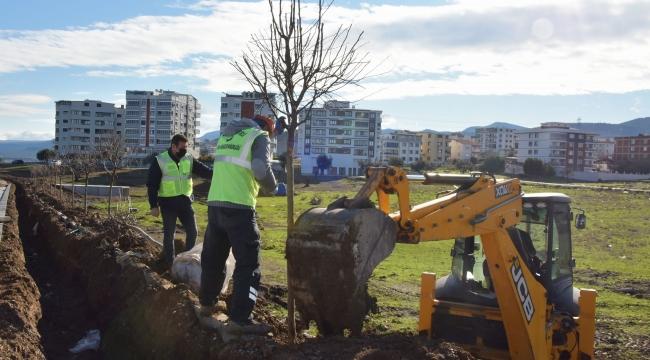 Aliağa Belediyesi'nden Güzelhisar Caddesi'ne 400 Ağaç Dikildi