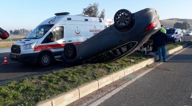 Aliağa'da trafik kazası : 2 Yaralı