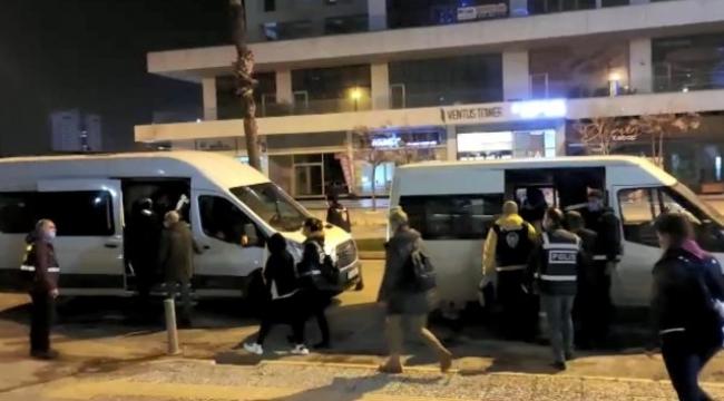 İzmir'de gizlice müşteri alınan masaj salonlarına fuhuş baskını: 10 tutuklama