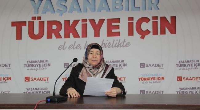SAADET PARTİSİ İZMİR İL KADIN KOLLARI'NDAN SU TASARRUFU ÇAĞRISI