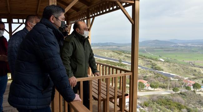 Başkan Serkan Acar ve Kaymakam Ömer Karaman'dan Proje Alanlarına Ziyaret