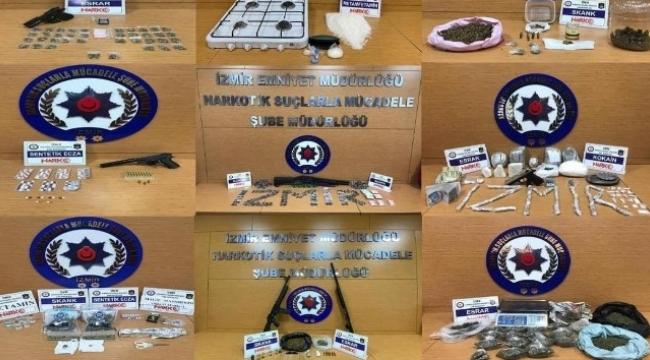İzmir'de uyuşturucu operasyonları: Bir haftada 14 tutuklama