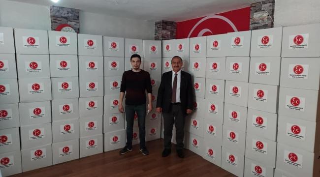 MHP Aliağa 'dan yardım eli
