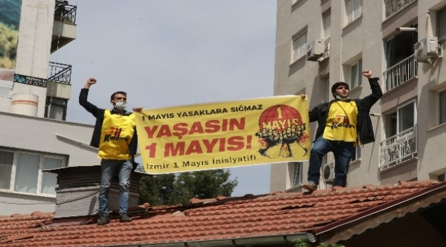 İzmir'de izinsiz 1 Mayıs gösterisinde gözaltına alınan 31 kişi serbest