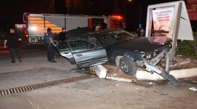 Polis otosuna çarpıp kazaya sebebiyet veren şüpheli gözaltında