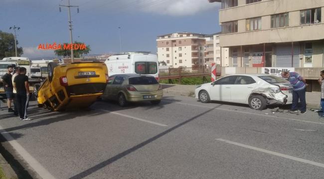 Aliağa'da Trafik kazası :1 yaralı
