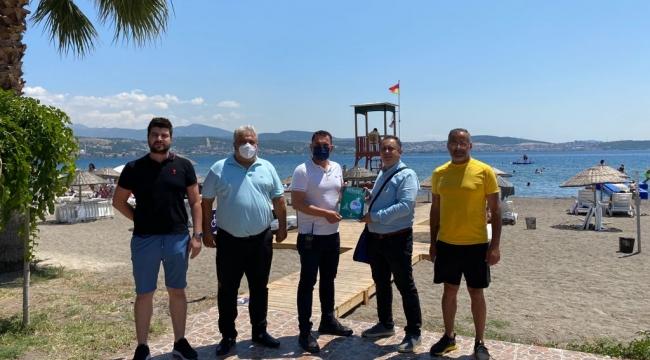 Aliağa Polis Plajına Mavi Bayrak Geliyor
