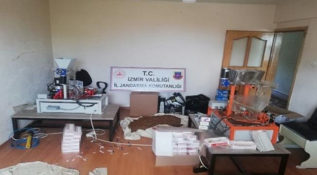 Kaçak sigara imalathanesine operasyon