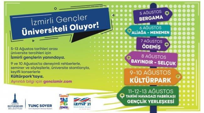 İzmir Büyükşehir Belediyesi tercih döneminde gençlere rehber oluyor.