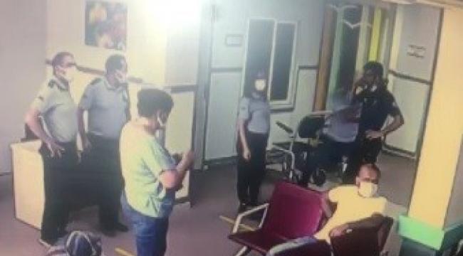 Yardım istediği polisin tabancasını kaptı