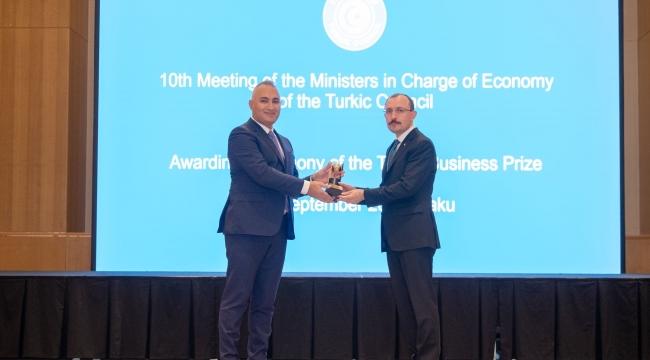 SOCAR Türkiye, 'Türk Konseyi Yatırım Ödülü'nü Bakü'de gerçekleştirilen Ekonomi Bakanları Zirvesi'nde aldı